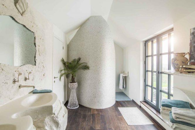 Bathroom nacred double sink, halchimia, 120x80 cm
