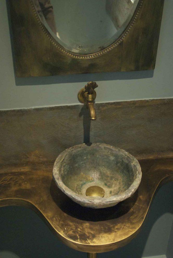 Bronze basin, halchimia, bronze, 35 cm
