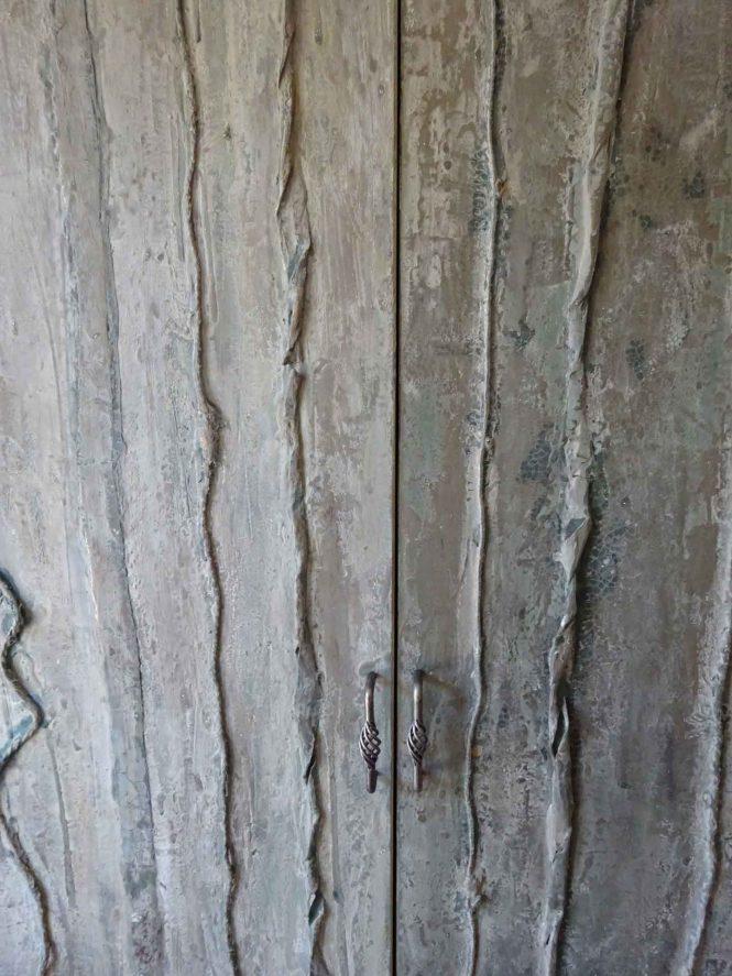 Bronze doors, detail, alchimia, bronze, 220x117 cm