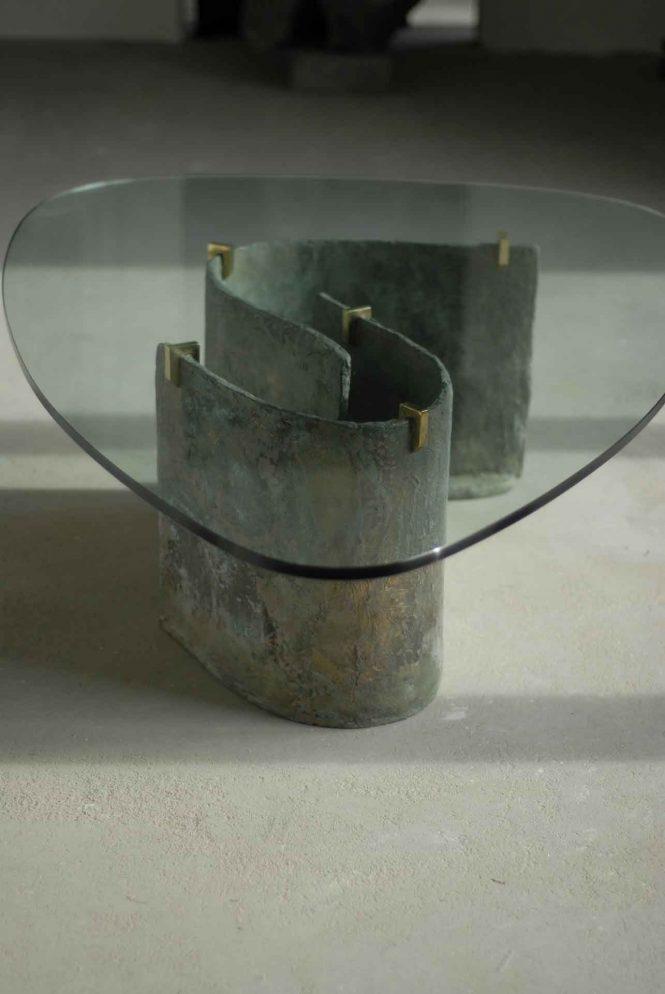 Coffee table, halchimia, bronze, 150x80 cm