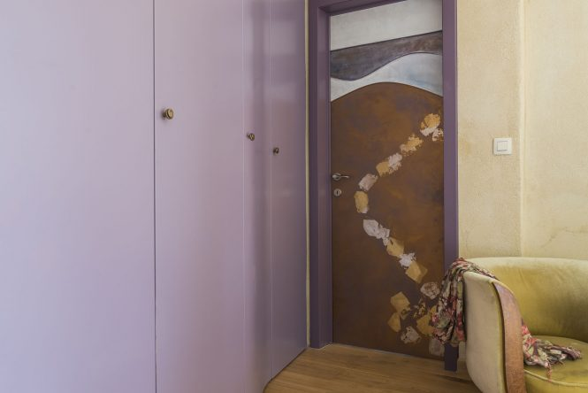 Door Way, golden leaves, 220x90 cm