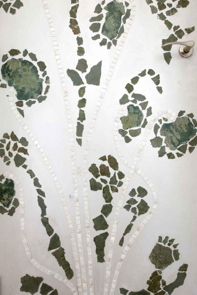 Mosaic door, detail, 220x90 cm