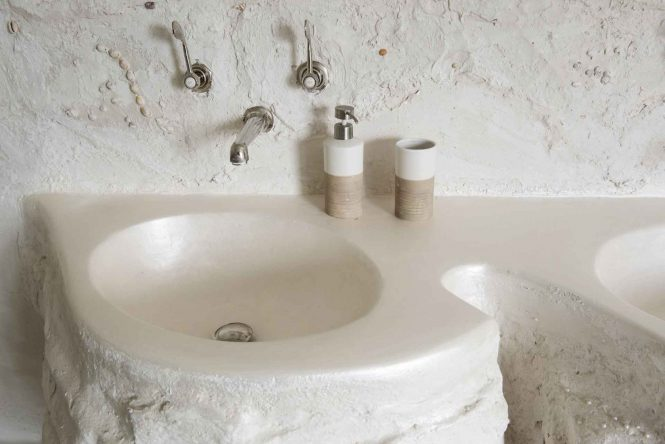 Nacred double sink, halchimia, 120x80 cm