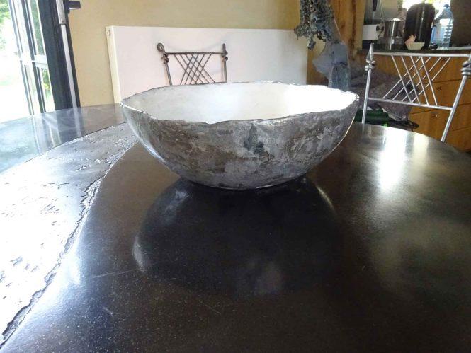 Pearly bowl, halchimia, bronze, 30 cm