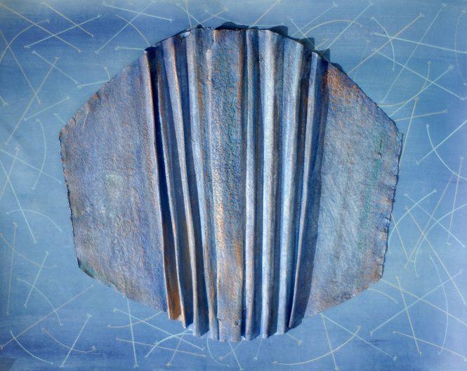 Air Train Blue, watercolor on paper, 50x65 cm