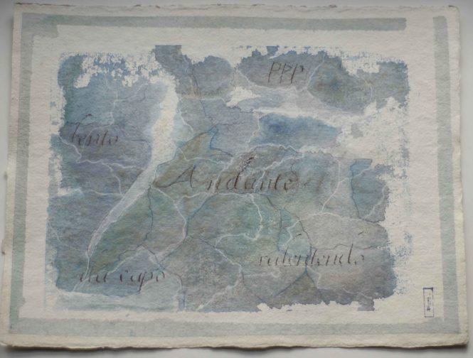 Carta quasi una fantasia 1, watercolor on paper, 31x41 cm