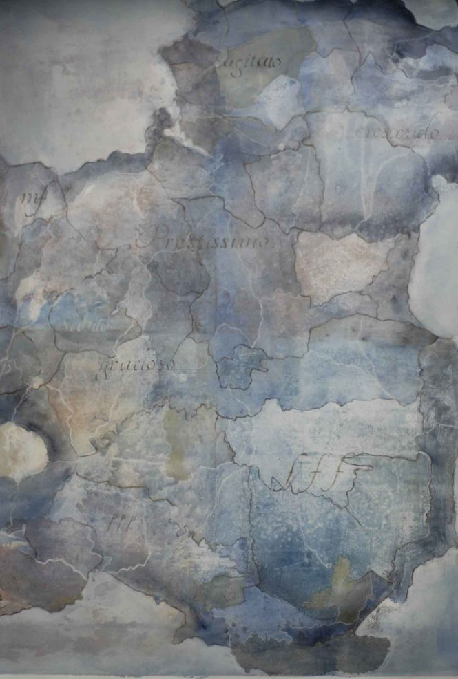 Carta quasi una fantasia 4, watercolor on paper,  77x57 cm © Private collection