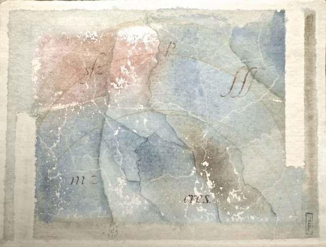 Carta quasi una fantasia 9, watercolor on paper, 31x41 cm