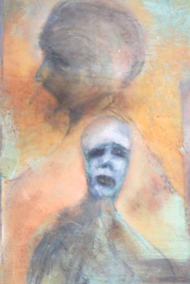 Double Dream, oil on panel, 50x40cm