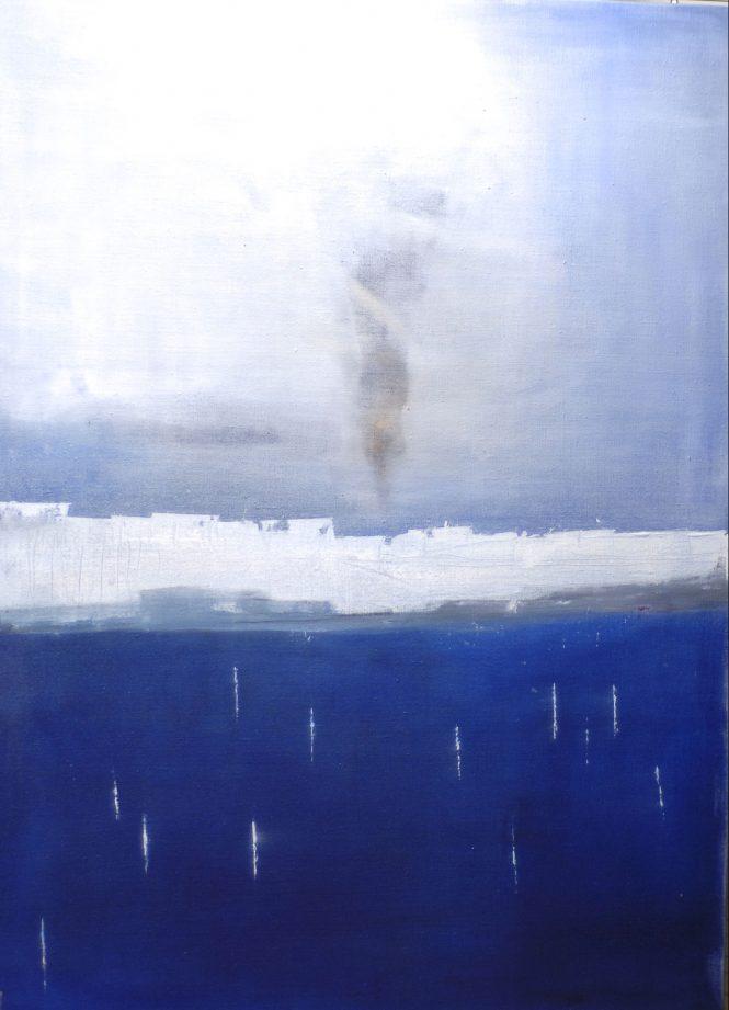 In Memoriam Aylan Kurdi, acrylic on canvas, 130x97 cm
