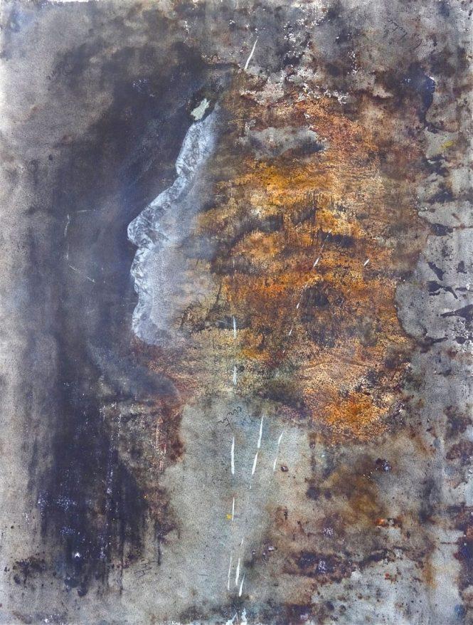 Mr S. Dilemma, pigments acrylique on paper, 64x49