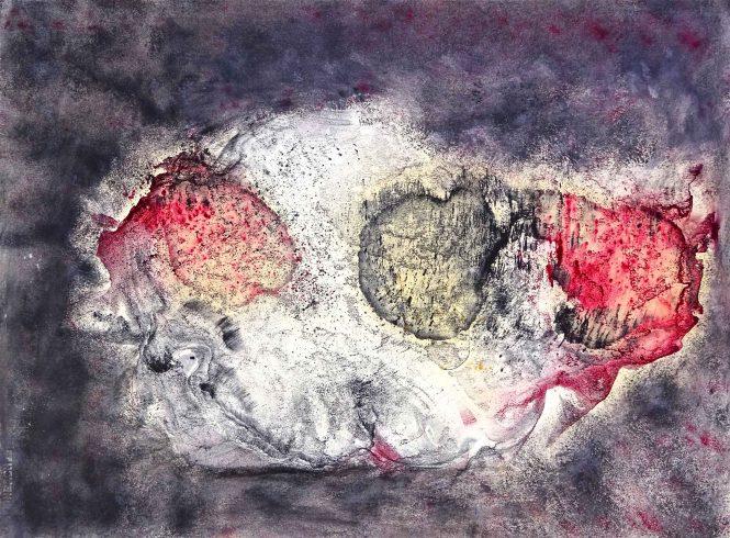 Swirl, pigments on paper, 55x72cm