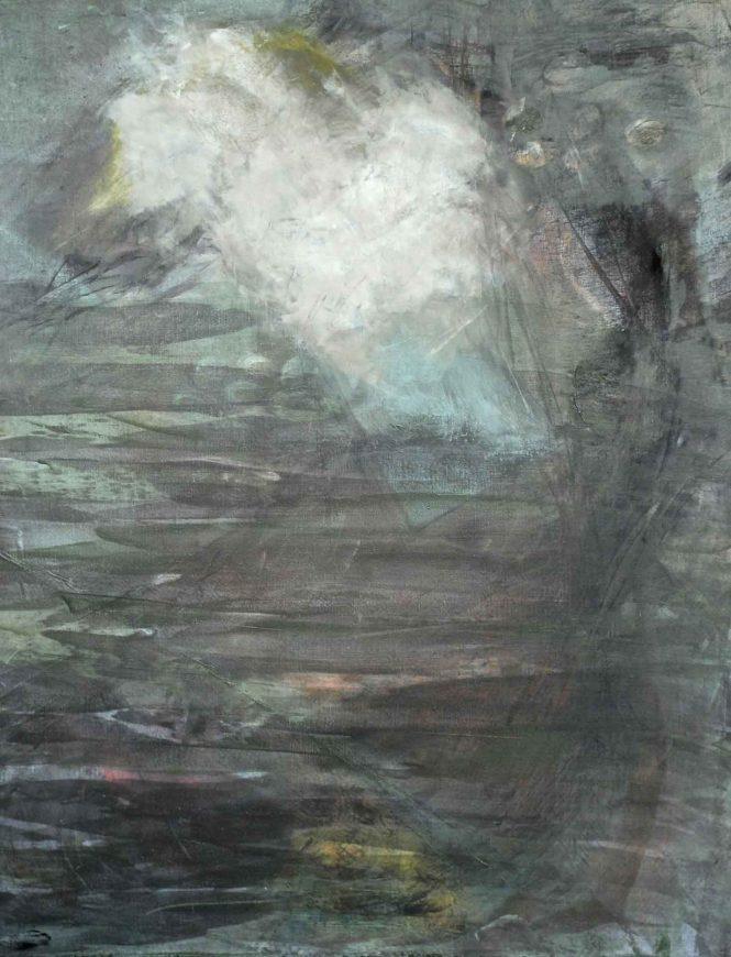 White Rainbow, acrylic on canvas, 100x80cm