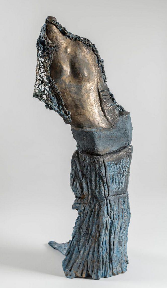 Vestige at Fashionweek, halchimia, bronze, 133x38x38 cm