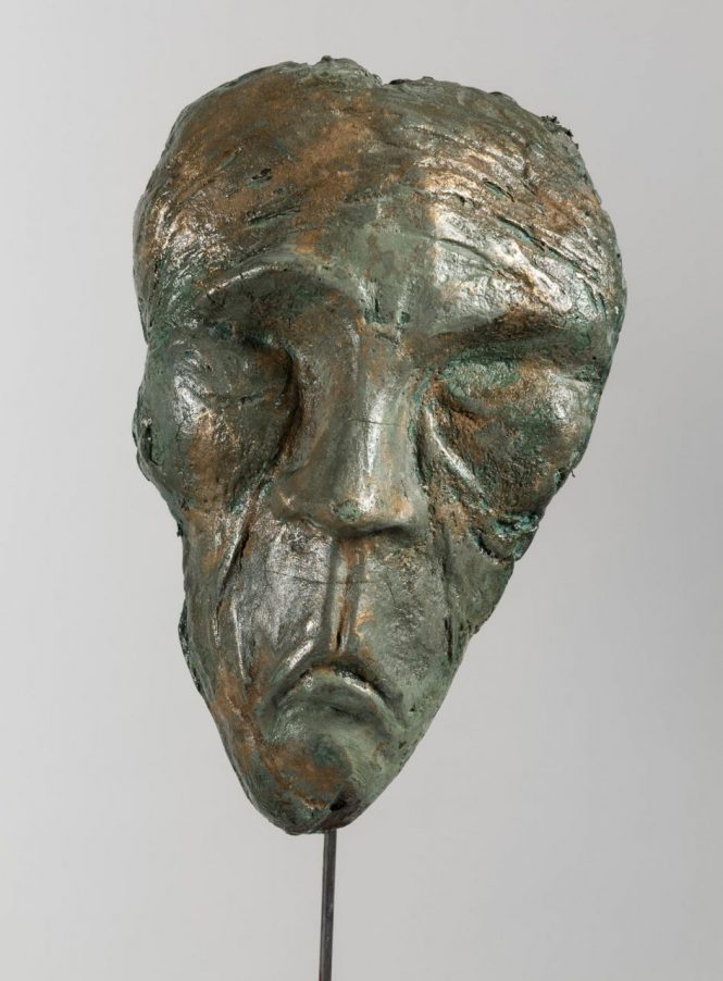 Faces (detail), halchimia, bronze, 118x63x28 cm