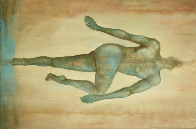 Unexpected, acrylic on canvas, 195x130 cm