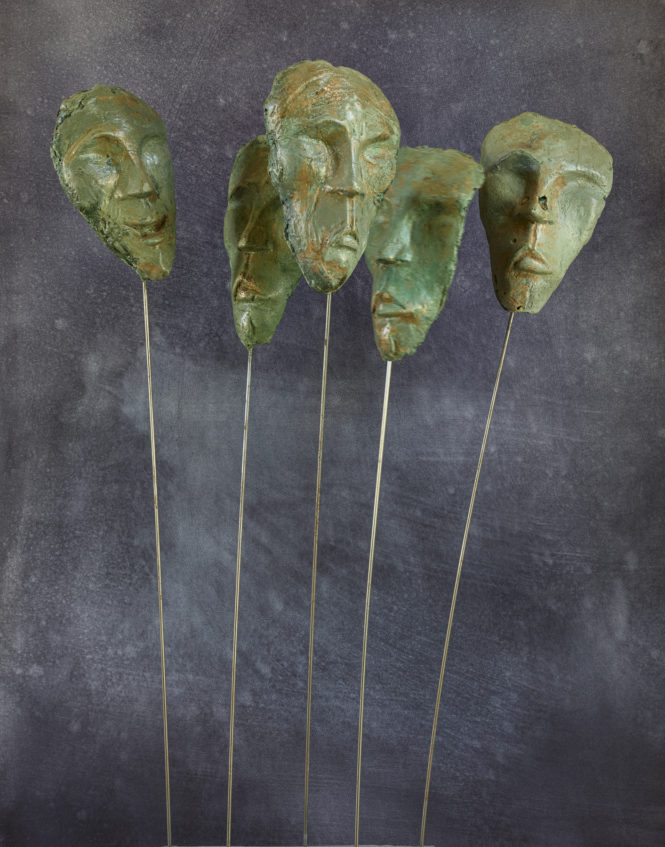 Ages, halchimia and bronze, 118x63x28 cm