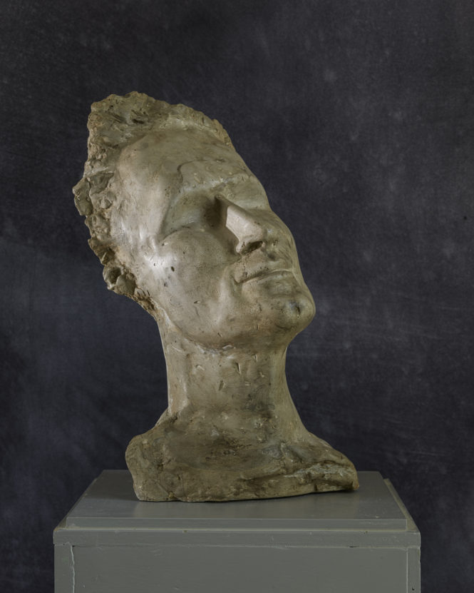 Man Bust, synthetic plaster, 42x22x18 cm