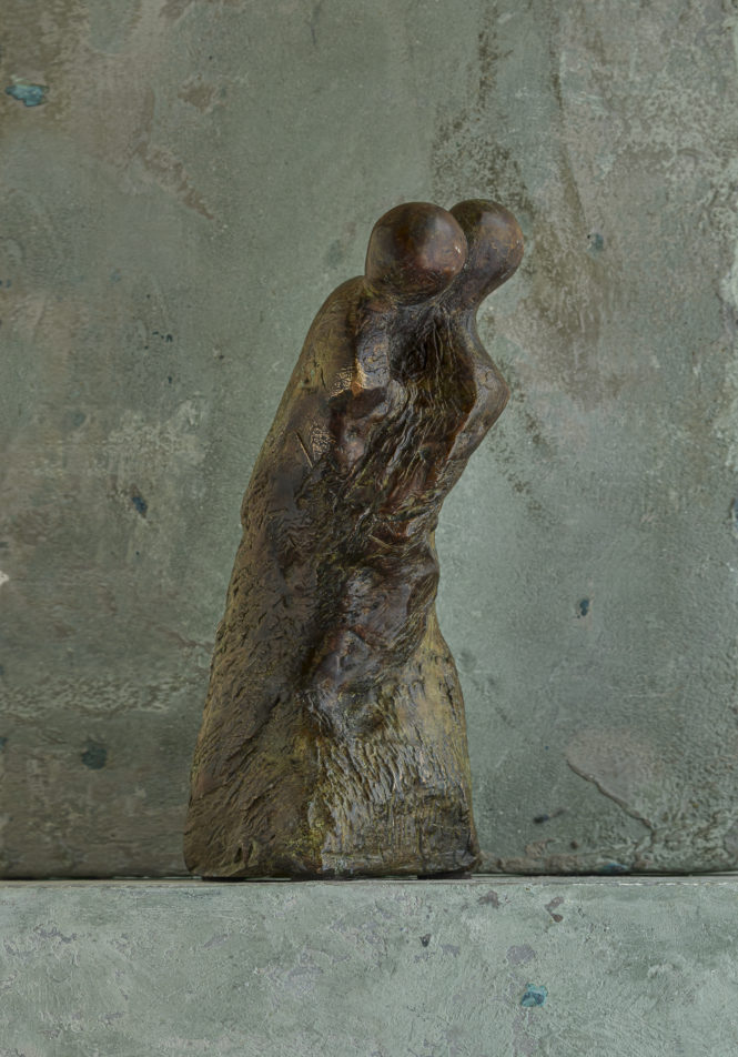 The Fall, bronze, 28x8x9 cm
