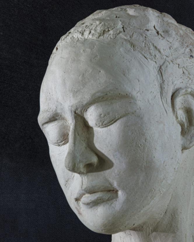 Woman Bust, (detail), terracotta