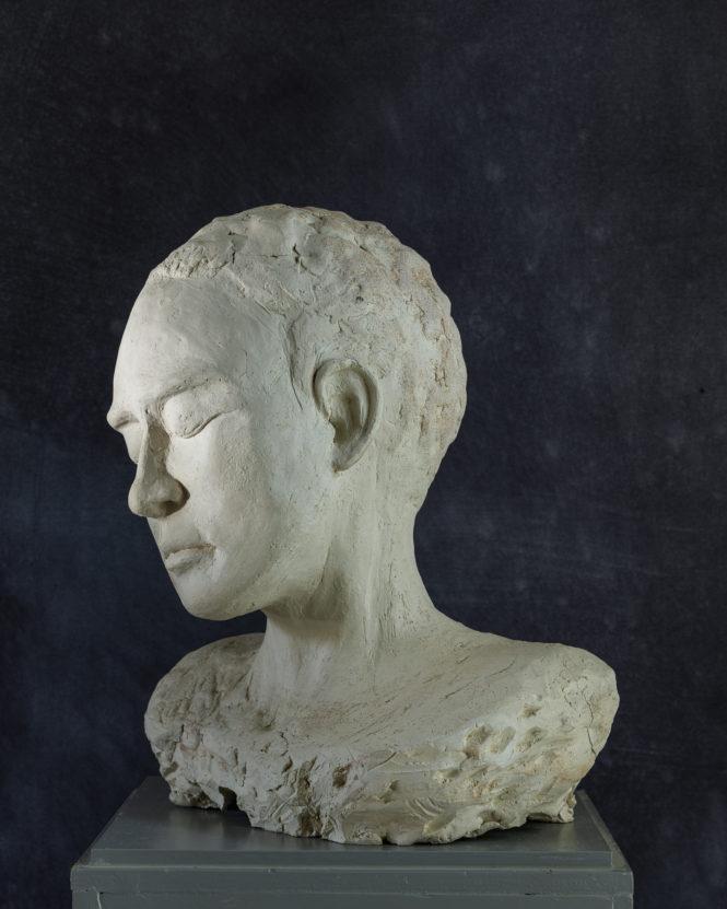 Woman Bust, terracotta, 40x22x18 cm