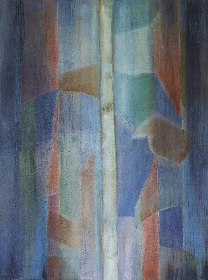 Wood Drops IV, acrylic on canvas, 52x42 cm