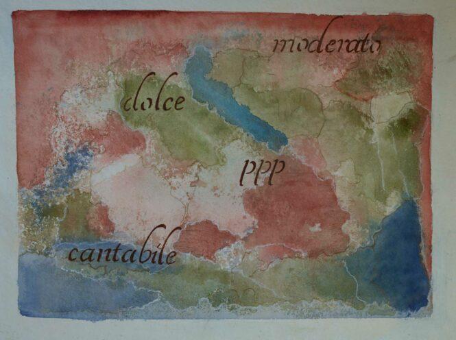 Carta quasi una fantasia 12, watercolor on paper, 31x41 cm