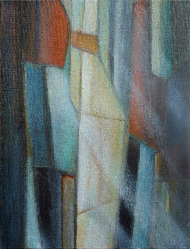 Wood-Drops VI, acrylic on canvas, 65x52 cm