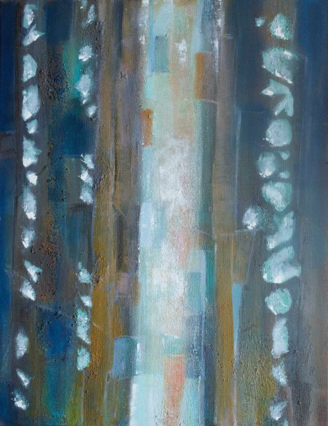 Wood Drops VII, acrylic on canvas, 65x52 cm